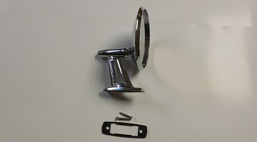 62-66 A, B & C BODY CHROME TWIN POST NON REMOTE MIRROR FITS RIGHT & LEFT SIDES