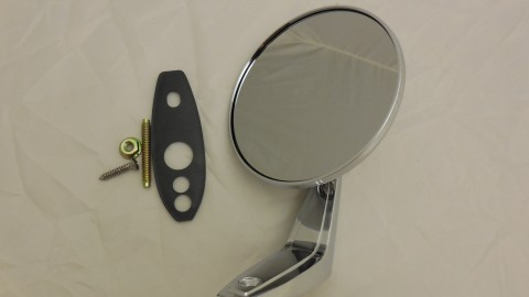 67-76 A, 67-70 B BODY MANUAL ADJUSTABLE CHROME MIRROR FITS BOTH LEFT & RIGHT SIDES