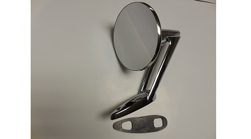 57-59 LONG BASE CHROME MIRROR FITS LEFT & RIGHT