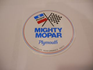 MIGHTY MOPAR PERFORMANCE PARTS DECAL