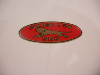 "1959 GOLDEN LION ""383"" VALVE COVER DECAL"