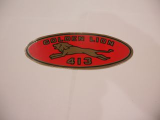 "1959 GOLDEN LION ""413"" VALVE COVER DECAL"