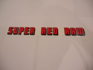 1955-59 DODGE SUPER RED RAM VALVE COVER DECAL