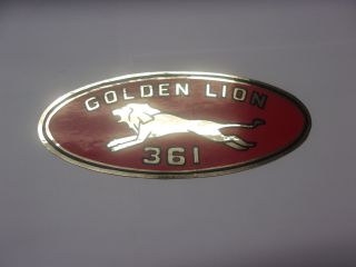 "1961-62 GOLDEN LION ""361"" VALVE COVER DECAL"