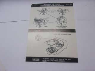 1974-75 DUSTER JACK INSTRUCTIONS
