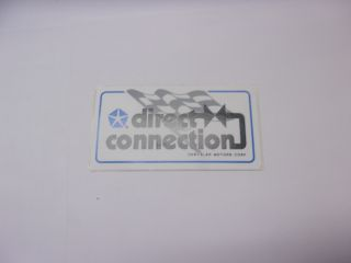 DIRECT CONNECTION SMALL DECAL