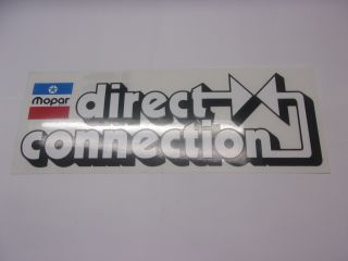 DIRECT CONNECTION WHITE DECAL