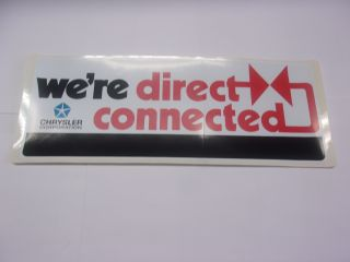 We're Direct Connected Decal