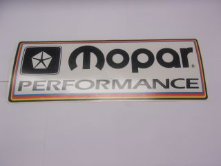 MOPAR PERFORMANCE WHITE DECAL