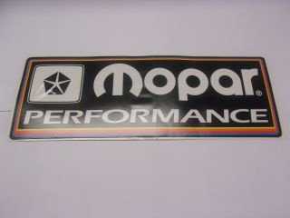 MOPAR PERFORMANCE BLACK DECAL