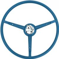 70 A&B BODY BLUE PEBBLE GRAIN STEERING WHEEL